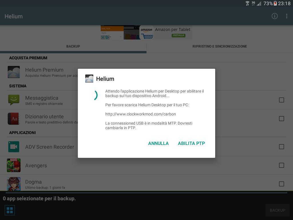 Backup app data Android figura 2