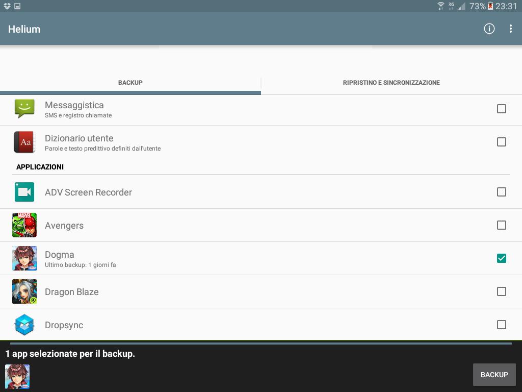 Backup app data Android figura 3
