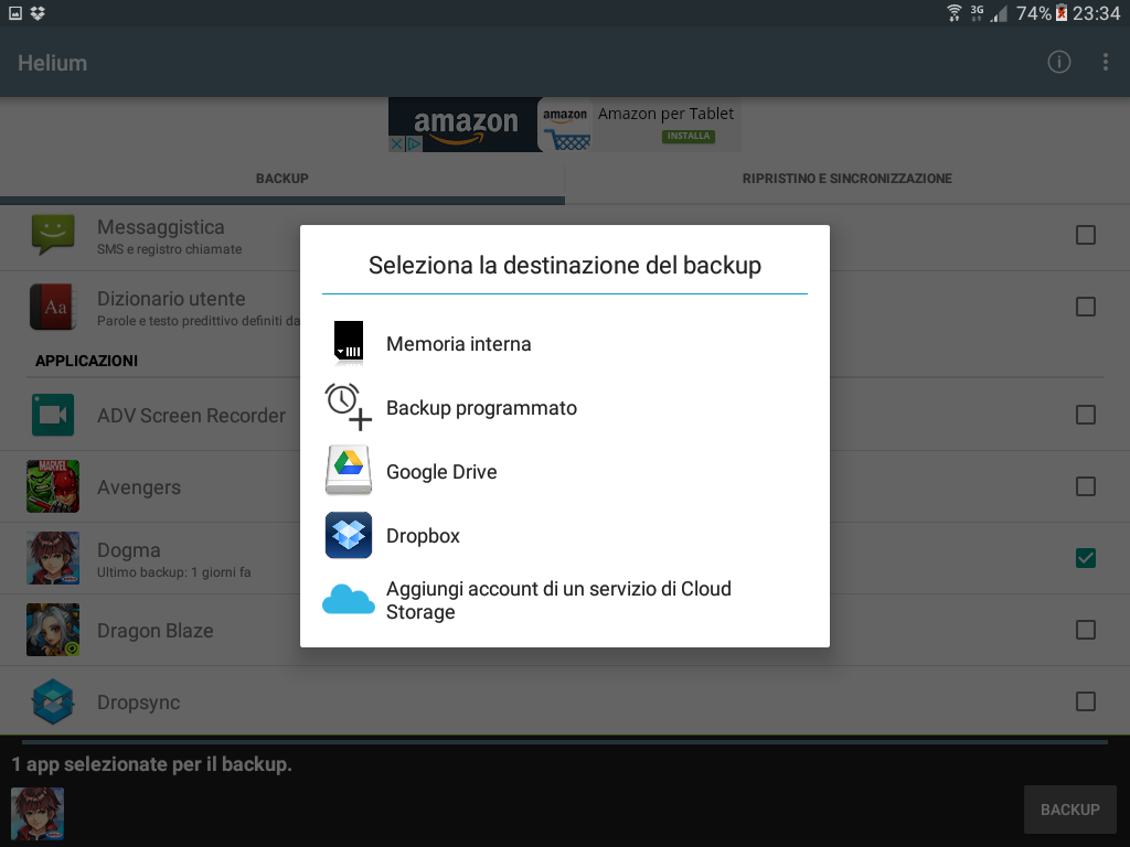 Backup app data Android figura 4