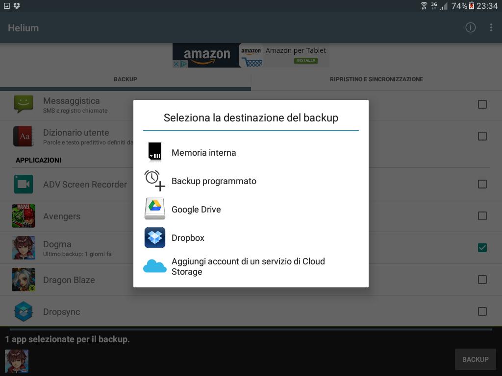 Backup app data Android figura 4