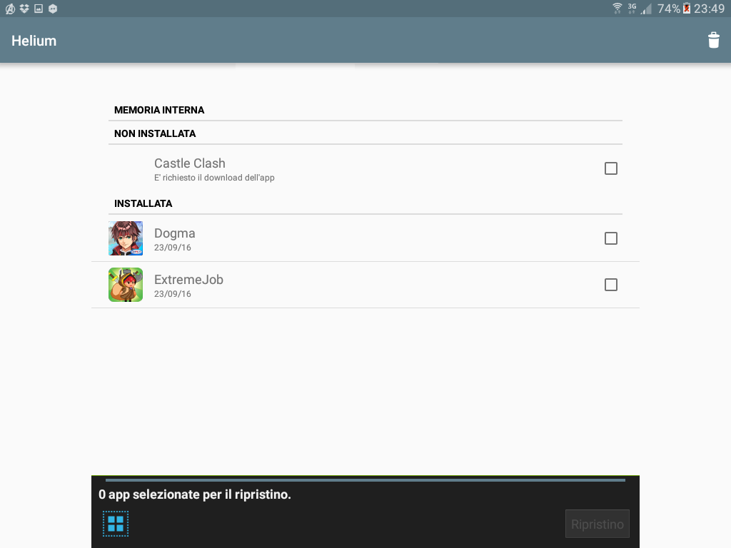 Backup app data Android figura 6