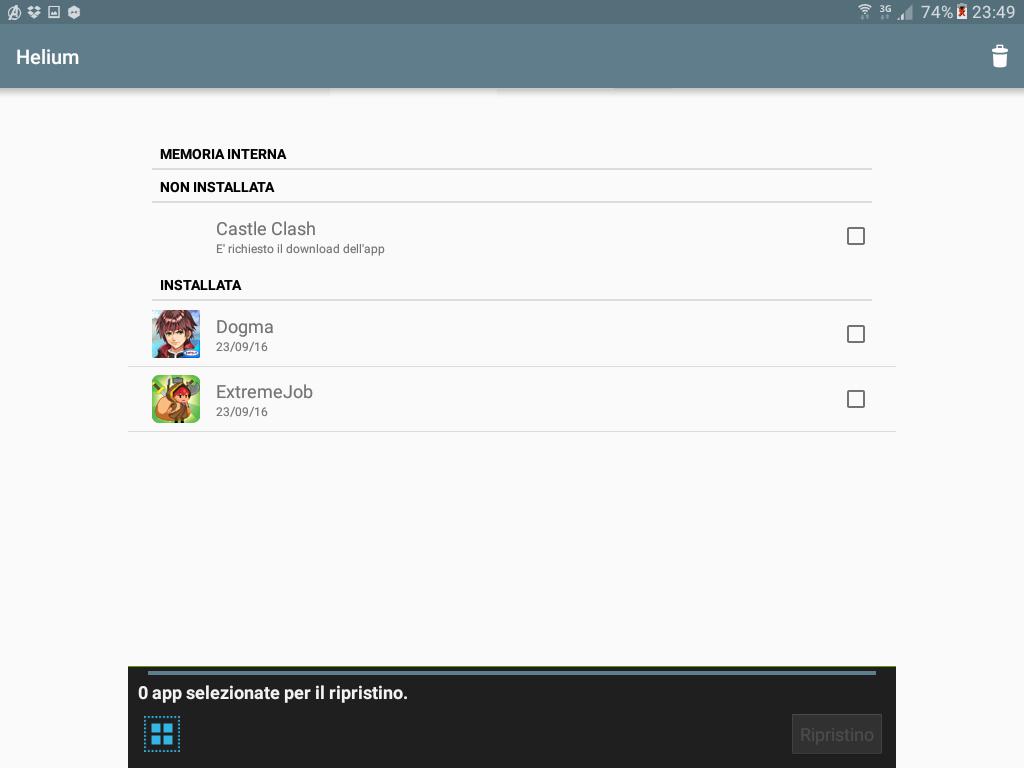 Backup app data Android figura 6