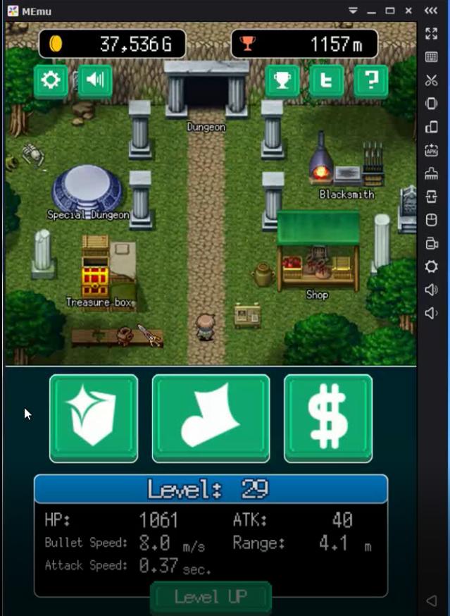 Pixel Dungeon Hero prima del cheat