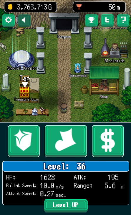 Free offline games for Android - Pixel Dungeon Hero city