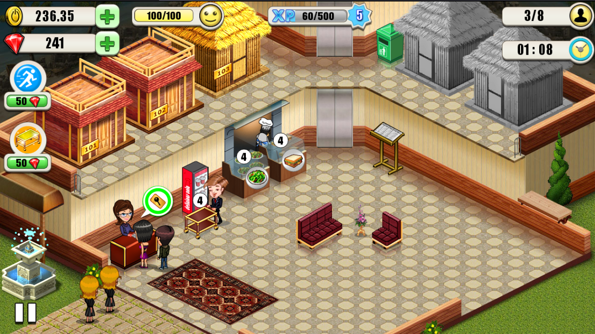 giochi gratuiti offline per Android - Resort Tycoon
