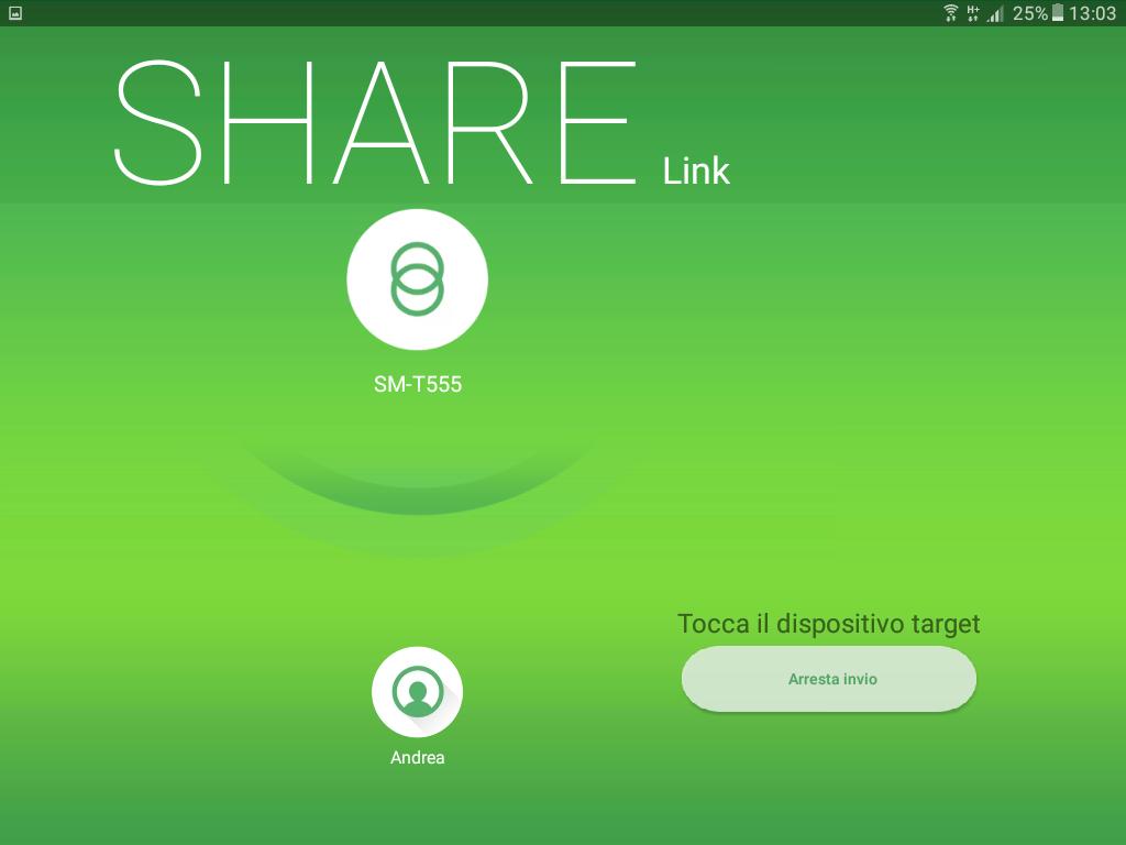 Share Link Android copia dei file