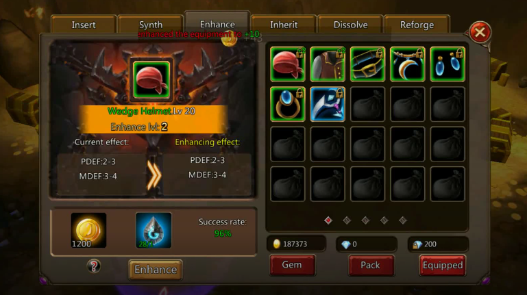 War of Horde sistema di upgrade e crafting
