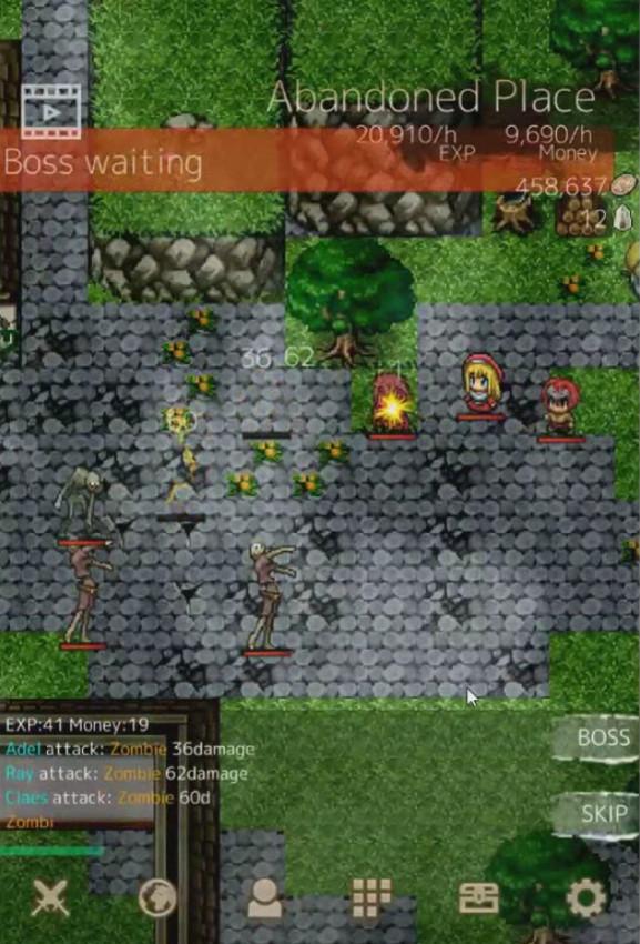 Top Android free RPG offline games - BattleDNA2 Idle RPG - boss