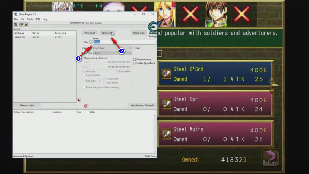 Cheat Engine Fairy Elements passo 2