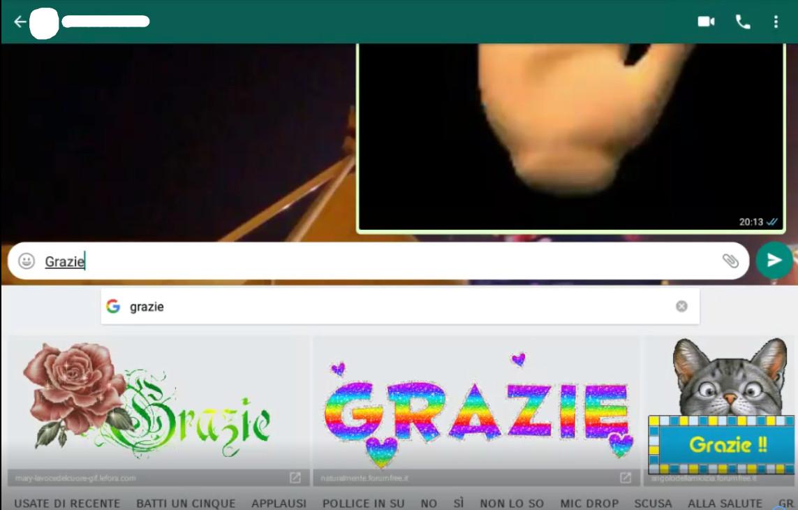 WhatsApp Invio Gif Animate con GBoard (Google board)