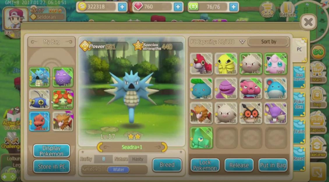 Monster Park lista dei mostri catturati