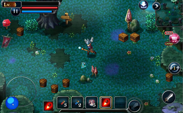Top Android free RPG offline games - S.O.L : Stone of Life EX - visuale isometrica