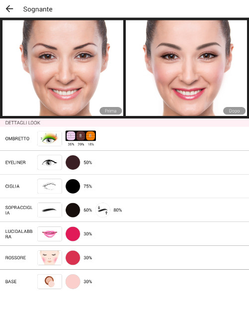 YouCam Makeup is the default look application