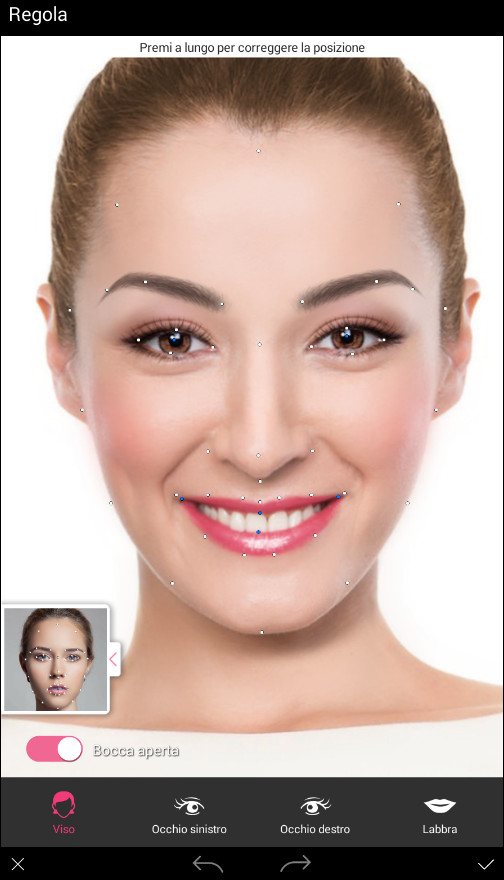 YouCam Makeup Reference Points