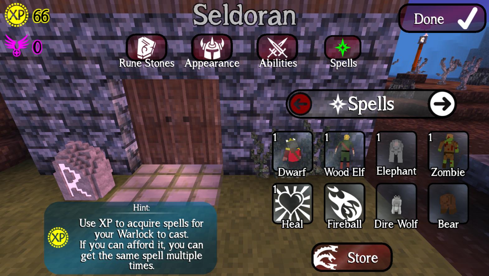 Giochi completi per Android gratuiti - The Last Warlock spells