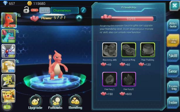 Fantasy Myst schermata dei pokemon