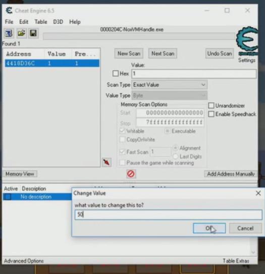 Cheat Engine Postknight - aggiornamento valore