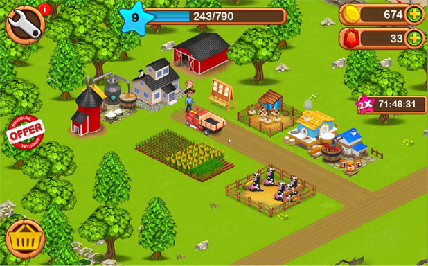 Free offline games for Android - Big Little Farmer