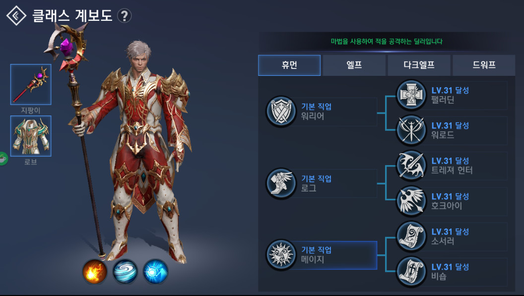 Lineage II Revolution - Character selection