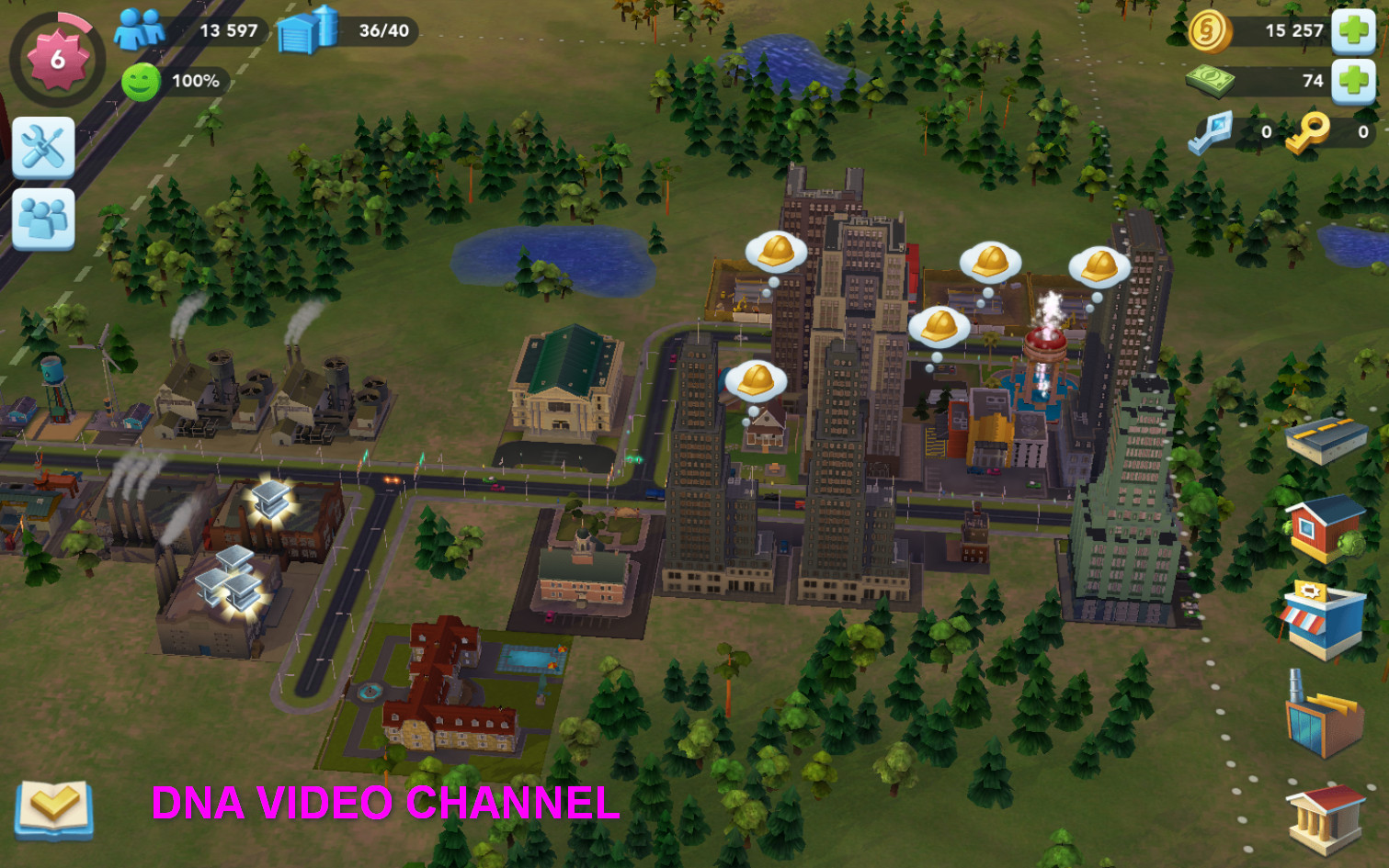 Free offline games for Android - SimCity Buildit city