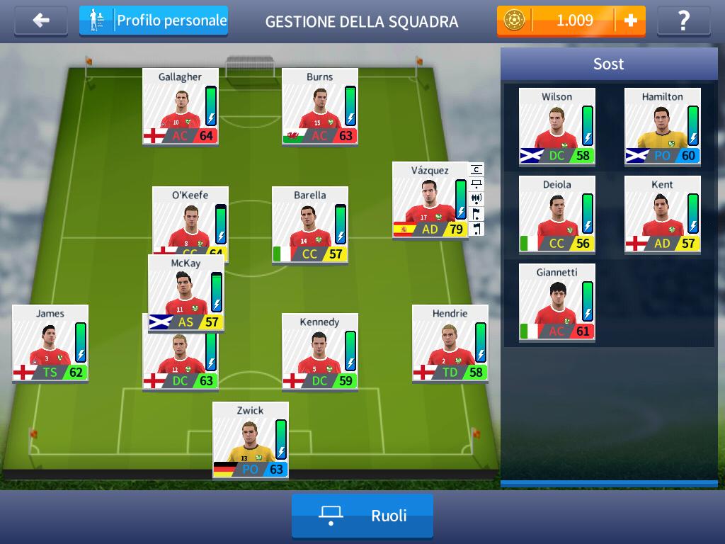 Dream League Soccer 2017 - Scelta della squadra