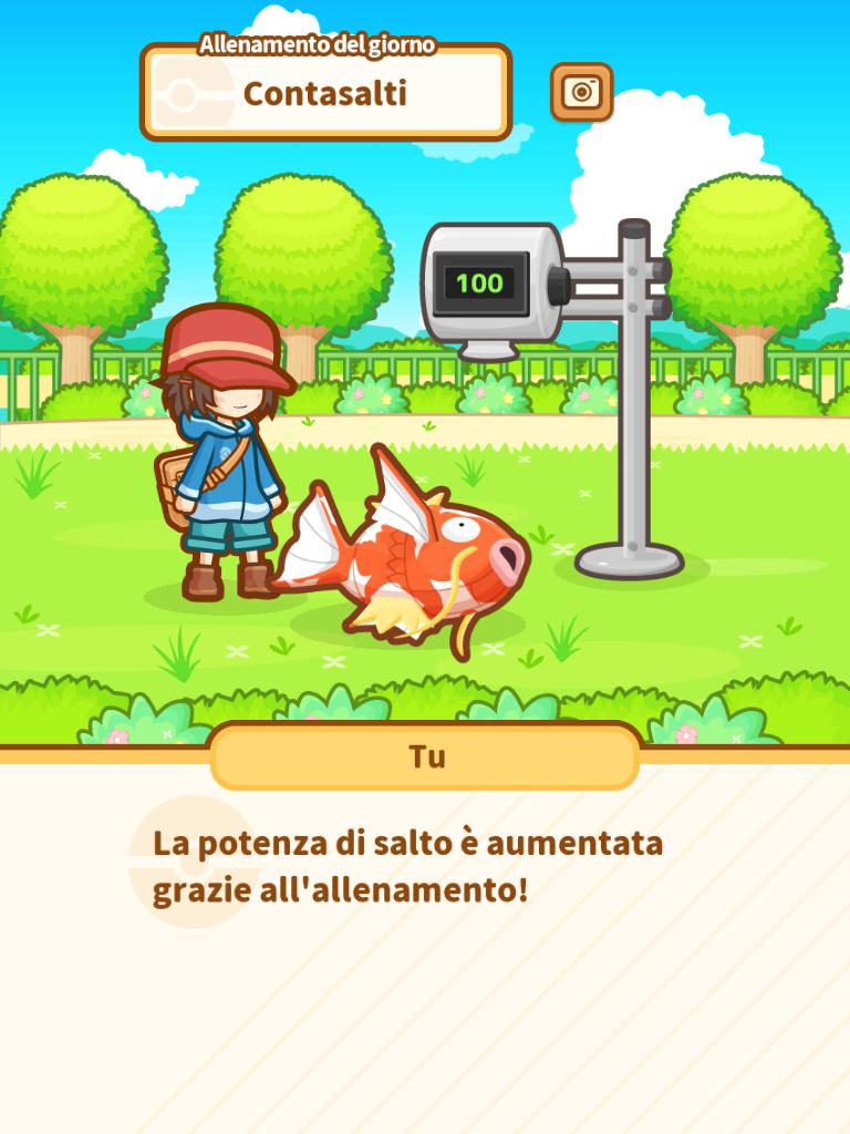 Pokemon Magikarp Jump Allenamento