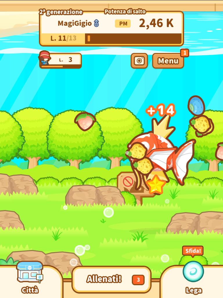Pokemon Magikarp Jump Cibo