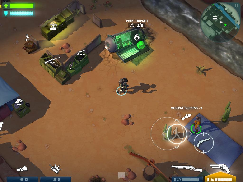 Giochi completi per Android gratuiti - Space Marshals campo base