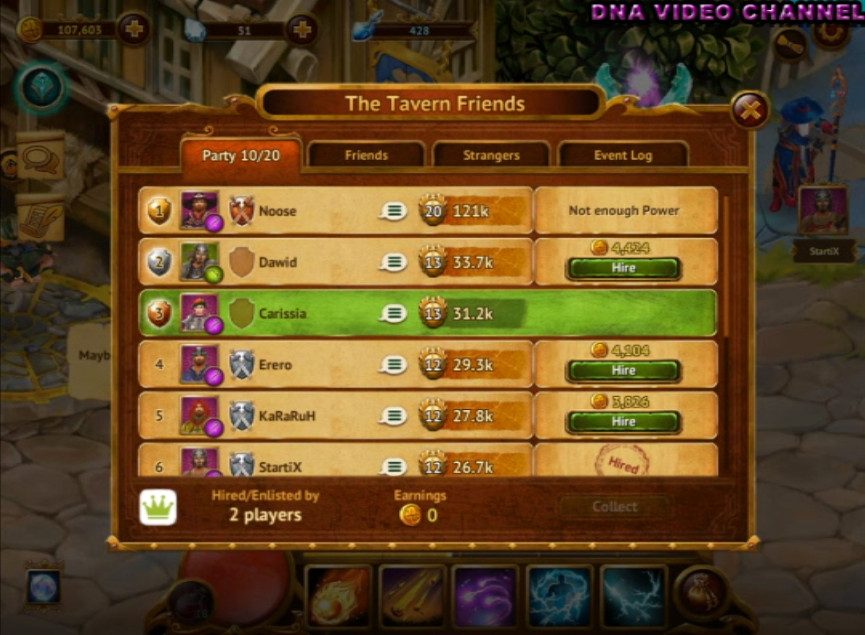 Guild of Heroes - taverna
