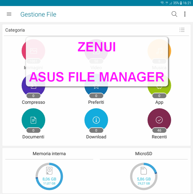 ZenUI Asus File Manager