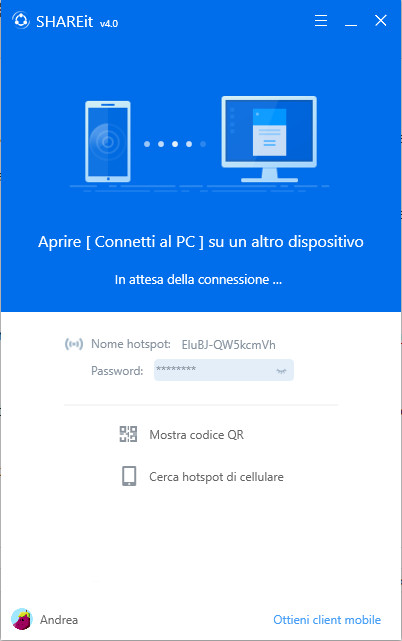 ShareIt PC Windows Connection