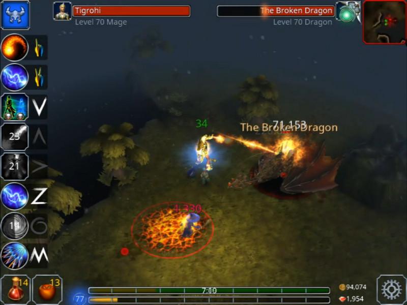 Aggiornamento Eternium Broken Dragon molten