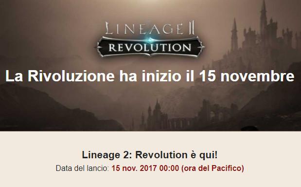 Rilascio Lineage II Revolution Il versione internazionale