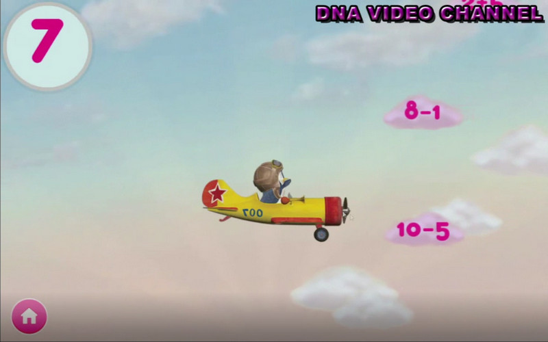 Masha And The Bear Educational - Mathematical plane