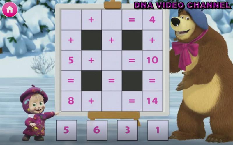 Masha e Orso Giochi Educativi - Quadrato matematico