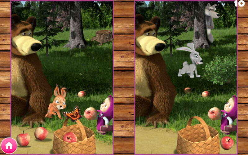 Masha and the Bear Educational Games - Find the differences
