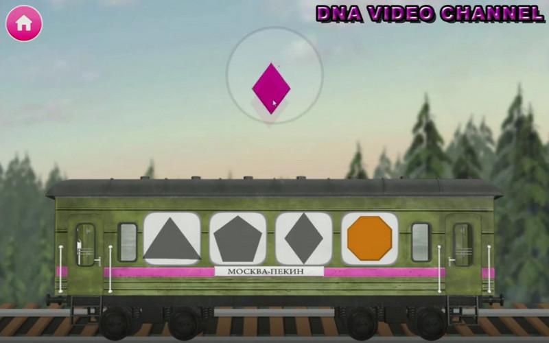 Masha e Orso Giochi Educativi - associazione forme geometriche
