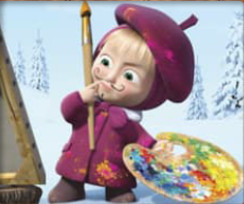 Masha And The Bear Educational - coloring pages