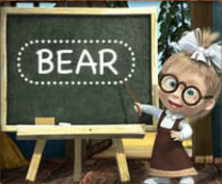 Masha And The Bear Educational - enigmistic games