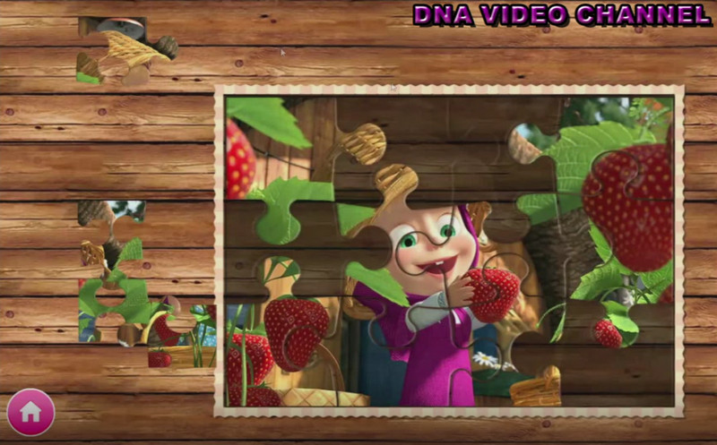 Masha And The Bear Educational - puzzle
