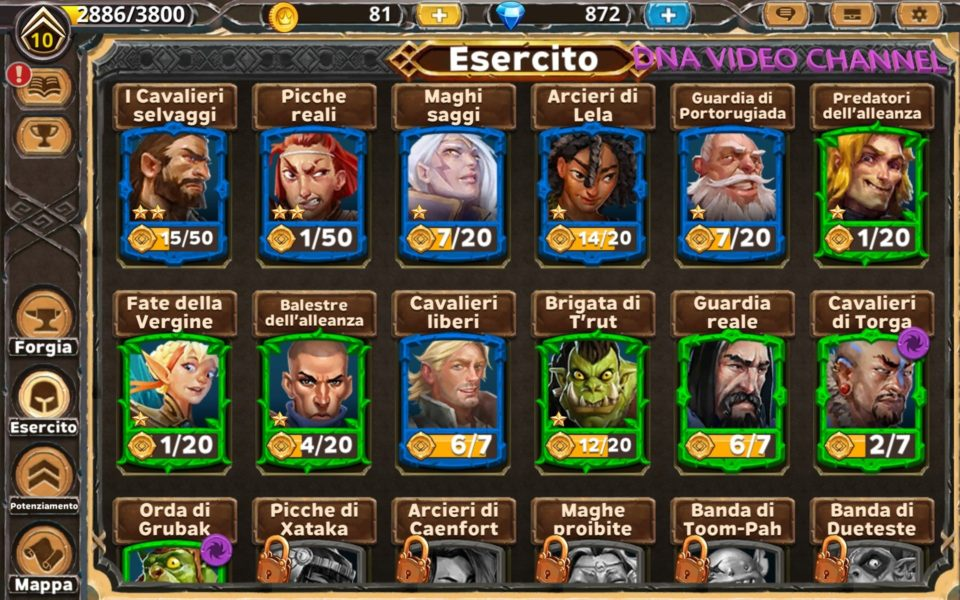 Warlords of Aternum esercito