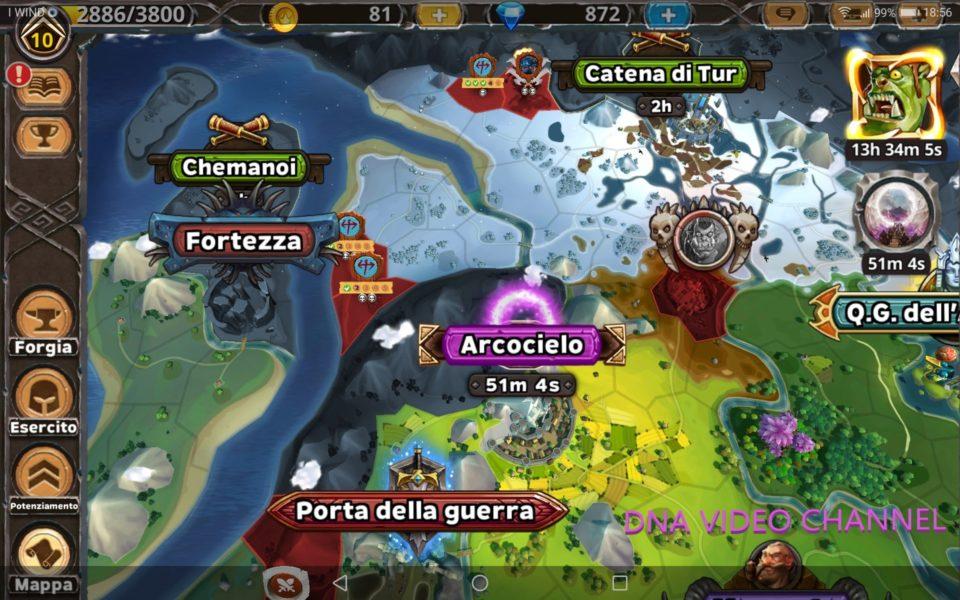 Warlords of Aternum Mappa del gioco