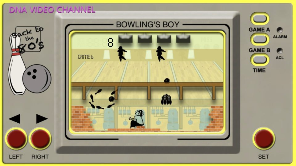 Retro Game Classic 80s games for IPhone IOS - Bowling Boy Screen 01
