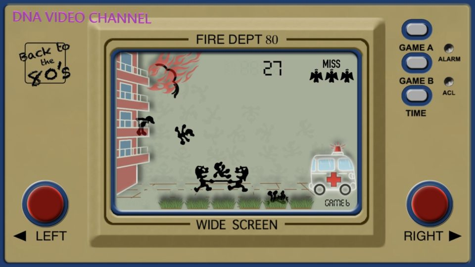Vintage Game Giochi classici anni 80 per IPhone IOS - Fire Dept 80 Screen 01