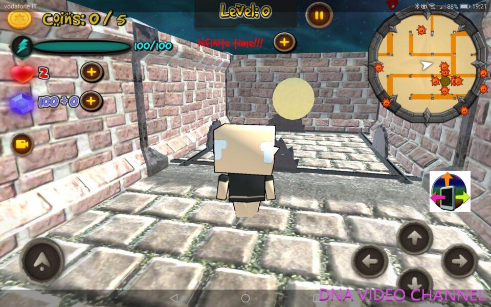 Giochi indie italiani - Trapped inside the maze schermata del gioco